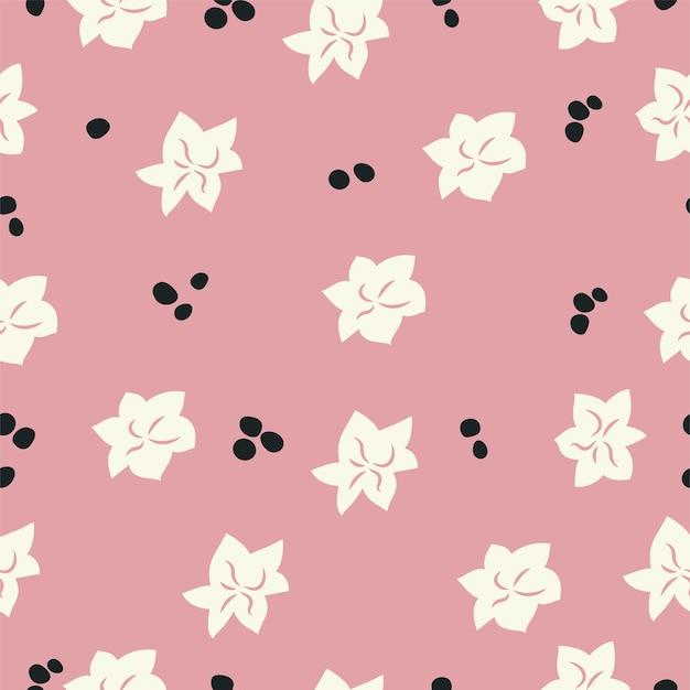 Vector illustratie naadloze bloemmotief. bloemenachtergrond voor cosmeticaverpakkingen.