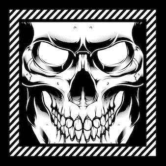 Vector illustratie schedel