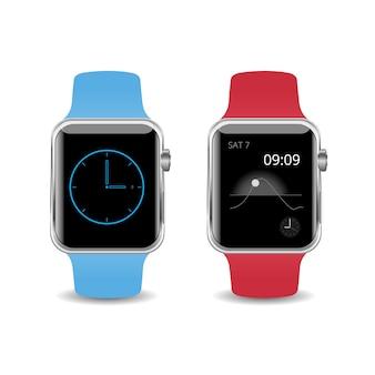 Vector illustratie smart watch geïsoleerd op een witte achtergrond