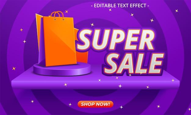 Vector illustratie super verkoop banner sjabloonontwerp