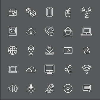 Vector illustratie ui technologie pictogram concept