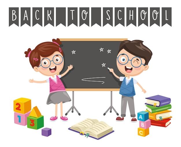 Vector illustratie van back to school kinderen