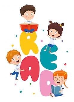 Vector illustratie van cartoon brieven