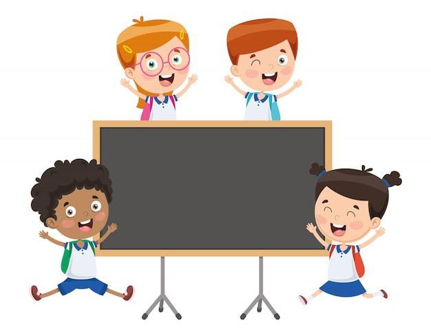 Vector illustratie van cartoon studenten