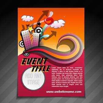 Vector illustratie van de gebeurtenisbrochure foldersjabloon
