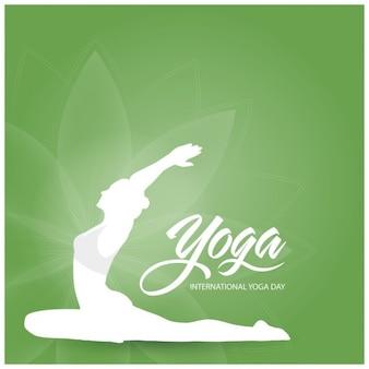 Vector illustratie van de poster ontwerp voor het vieren international yoga dag