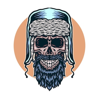Vector illustratie van de schedelwinter