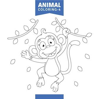Vector illustratie van dier kleurplaat