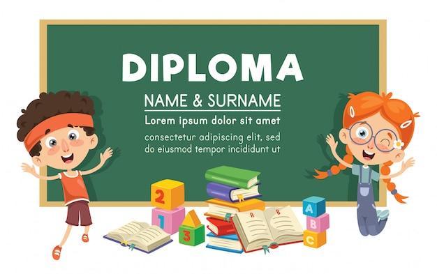 Vector illustratie van diploma ontwerp