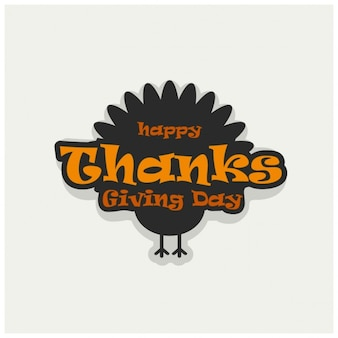 Vector illustratie van een happy thanksgiving celebration