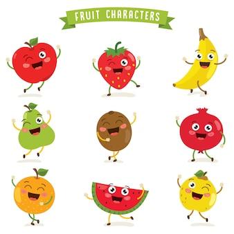 Vector illustratie van fruit tekens