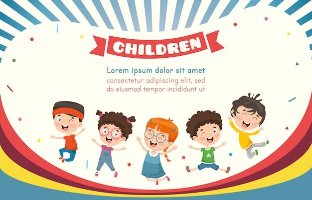 Vector illustratie van gelukkige kinderen