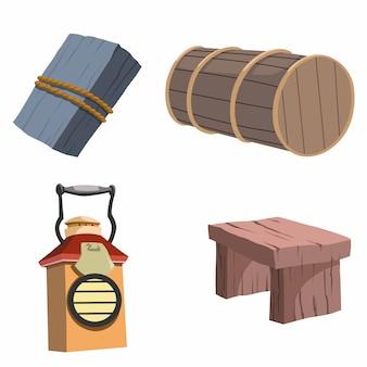 Vector illustratie van items in het huis