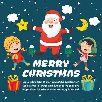 Vector illustratie van kerstmis