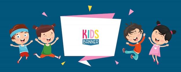 Vector illustratie van kinderen banner