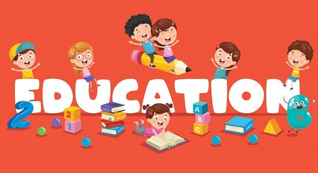 Vector illustratie van kinderen onderwijs