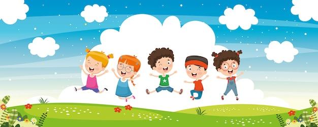 Vector illustratie van kinderen