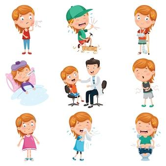 Vector illustratie van kinderziekten