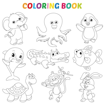 Vector illustratie van kleurboekpagina
