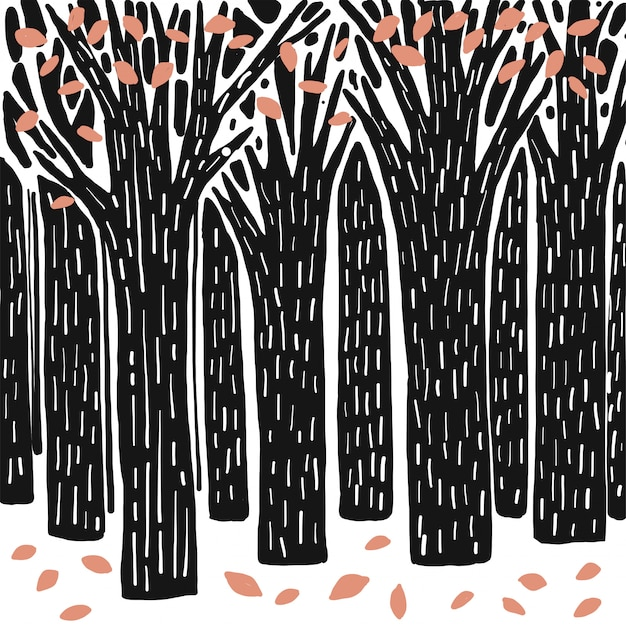 Vector illustratie van landschaps natuurlijke achtergrond