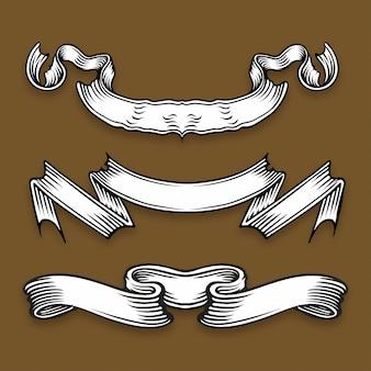 Vector illustratie van leeftijds oude linten