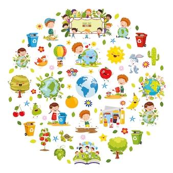 Vector illustratie van milieu conceptontwerp