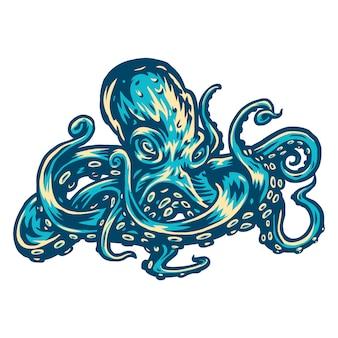Vector illustratie van octopus