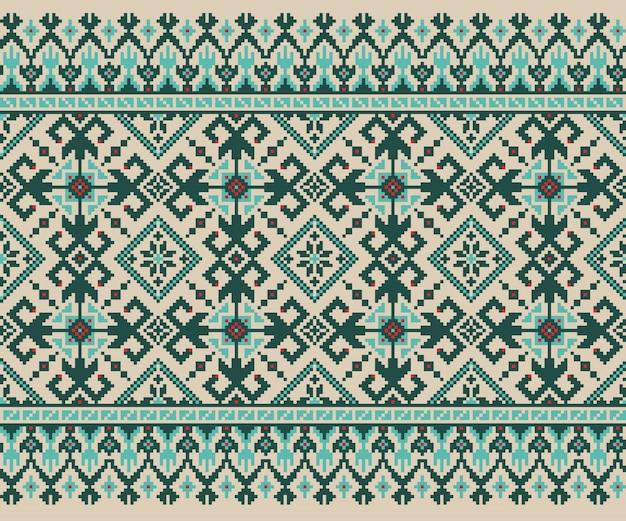 Vector illustratie van oekraïense volks naadloze patroon ornament. etnische versiering. border element. traditioneel oekraïens, wit-russisch volkskunst gebreid borduurpatroon - vyshyvanka Gratis Vector
