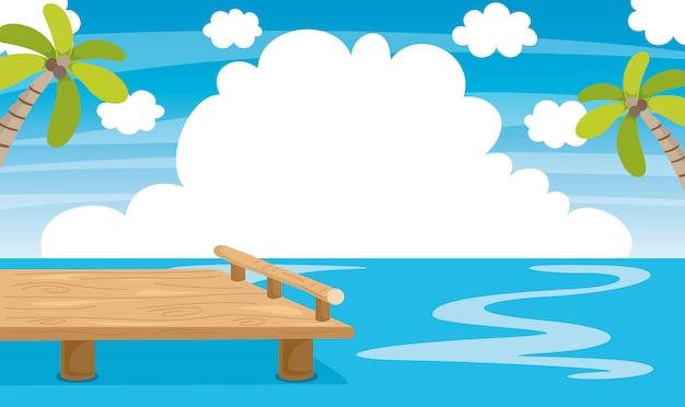 Vector illustratie van pier