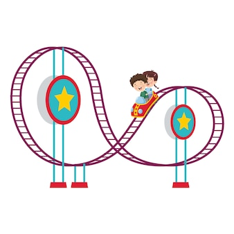 Vector illustratie van pretpark