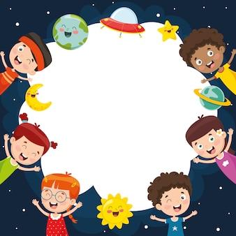 Vector illustratie van schoolkinderen
