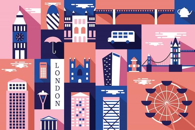 Vector illustratie van stad in londen