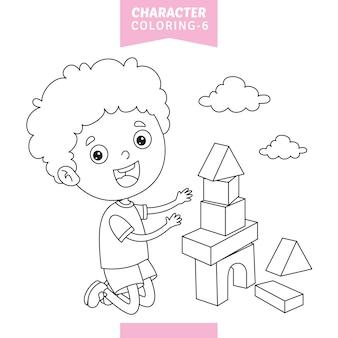 Vector illustratie van teken kleurplaat