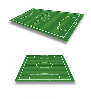 Vector illustratie van voetbalveld.