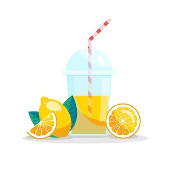 Vector illustratie. verse limonade. zomer