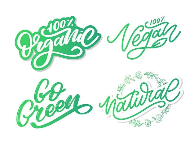 Vector illustratie voedsel ontwerp handgeschreven letters voor restaurant café menu vector-elementen voor l...