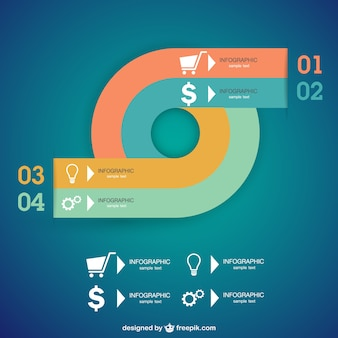 Vector infographic abstract ontwerp
