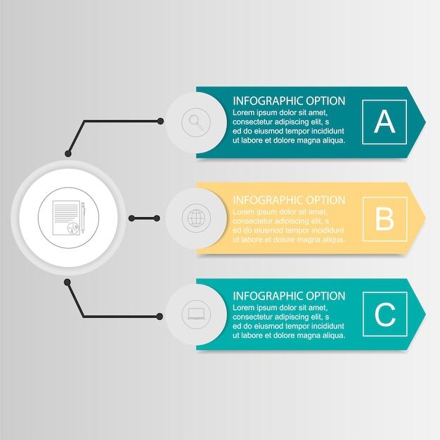 Vector infographic drie opties