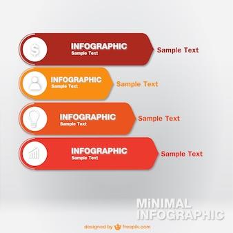 Vector infographic eenvoudige labels gratis