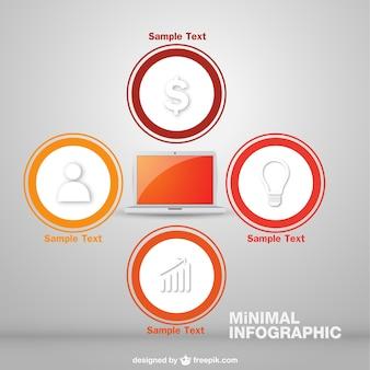 Vector infographic online business design
