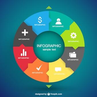 Vector infographic opties ontwerp