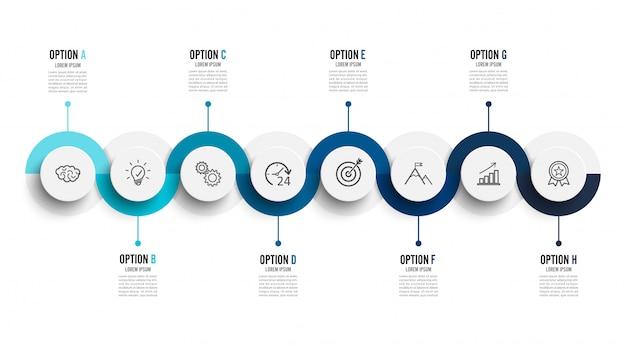 Vector infographic technologie met 3d-papier