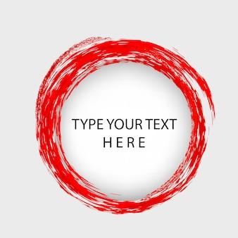 Vector infographic vector sjabloon plaatsing cirkelgat met rode krijtrand
