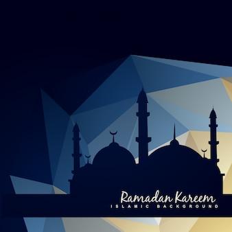 Vector islamc moskee met abstracte achtergrond