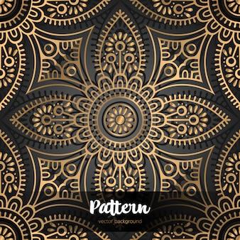 Vector islamitische achtergrond met mandala
