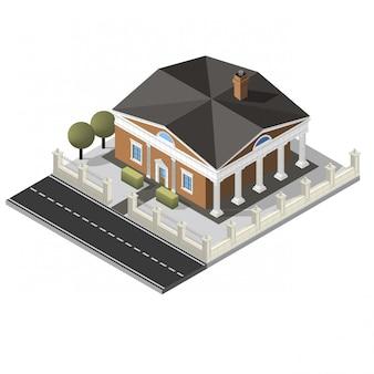 Vector isometrisch huis