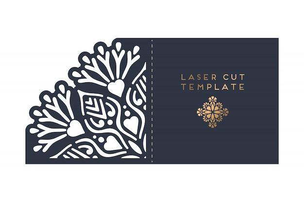 Vector kaart laser gesneden sjabloon