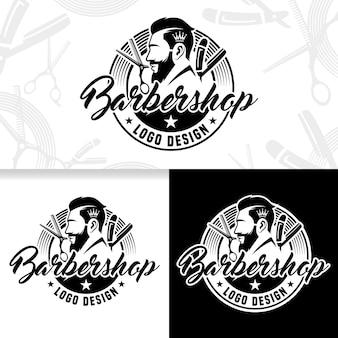 Vector kapperszaak logo ontwerpsjabloon