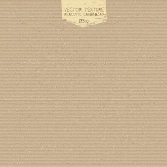 Vector kartonnen textuur. realistische kartonnen achtergrond. papier