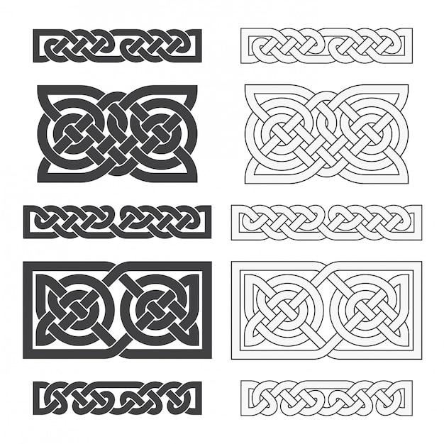 Vector keltische horizontale knoop. etnische sieraad